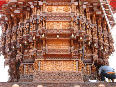 Wood carvings on Brahma Ratha