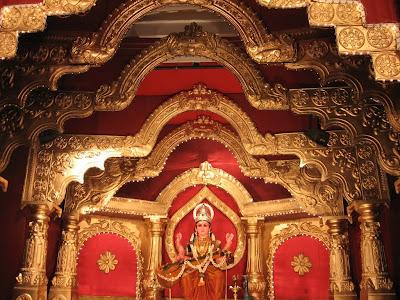 Idol of Goddess Saraswathi at Kudroli