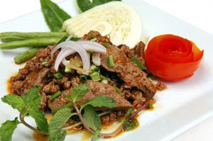 Spicy Minced Meat with herb