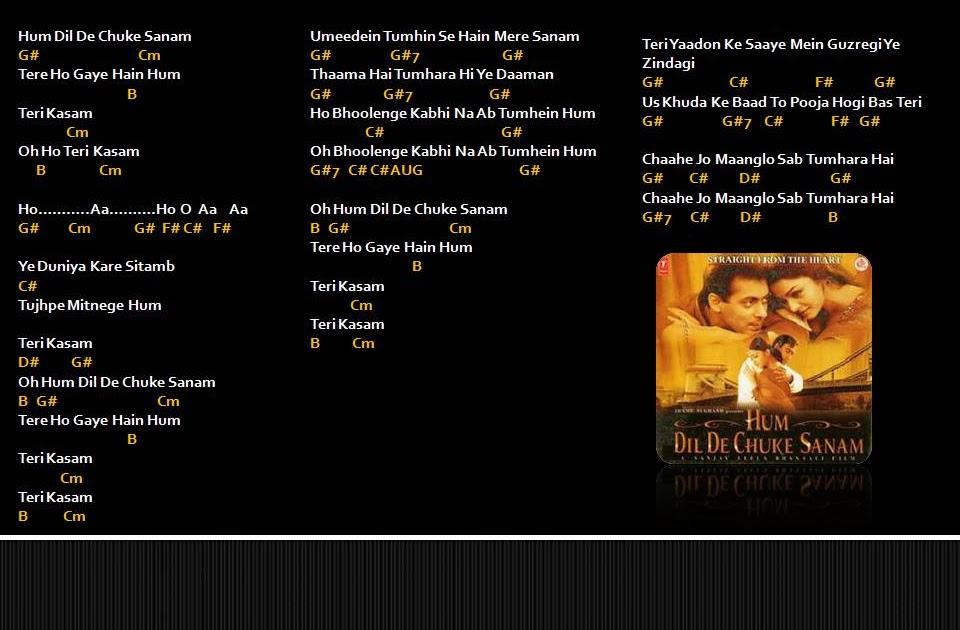 Hindi Music Chords Hum Dil De Chuke Sanam