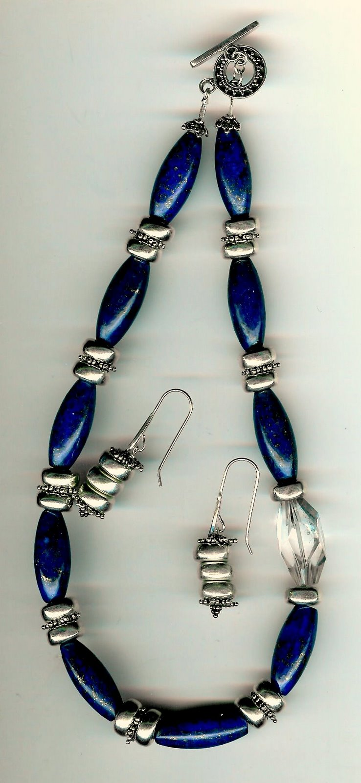 97. Lapis Lazuli, Crystal with Bali Sterling Silver