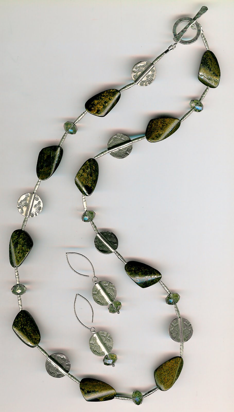 209. Bronzite, Crystals with Karen Hill Sterling Silver + Earrings
