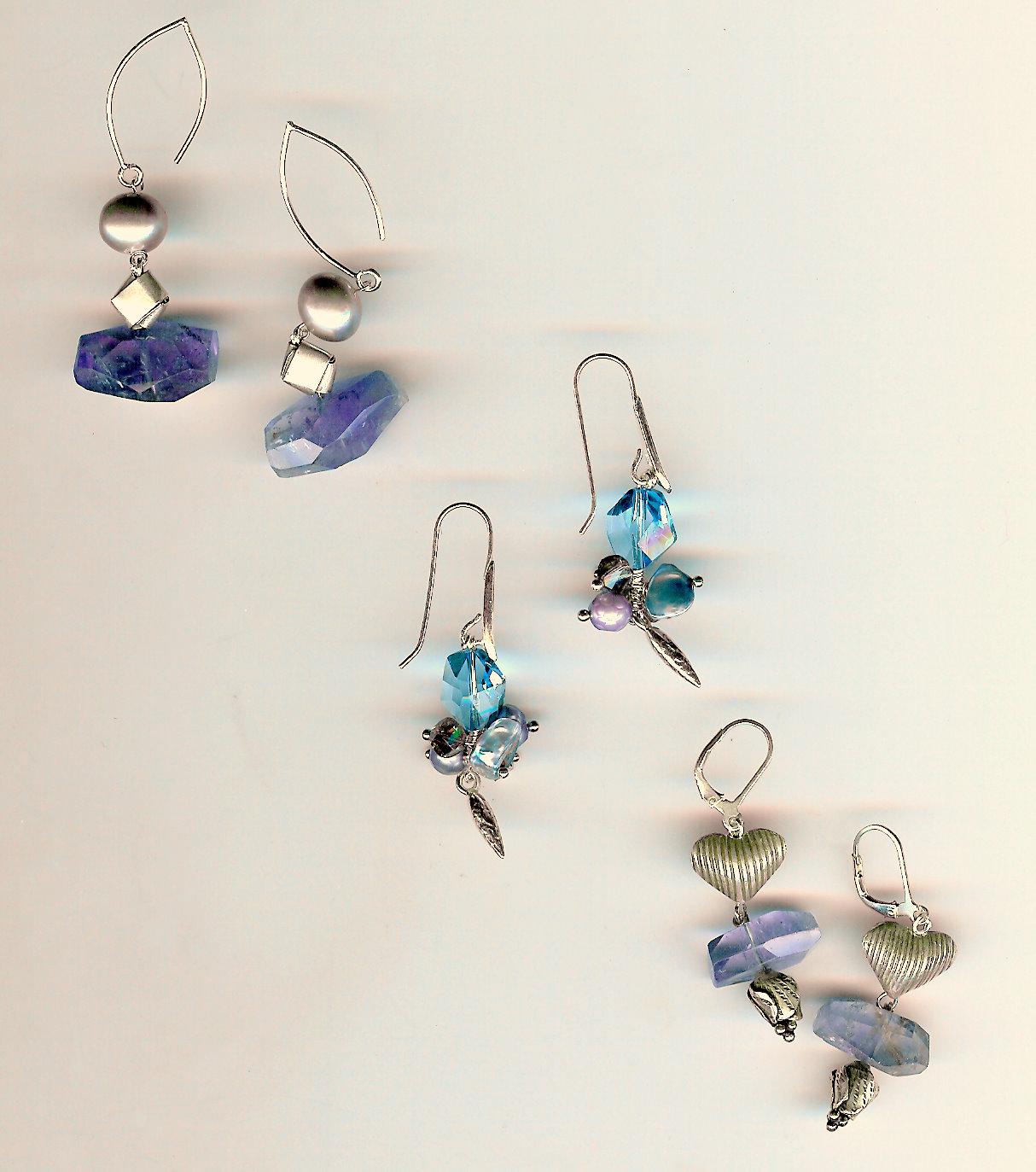 215. Amethysts, crystals, Akoya, freshwater & Keisha Pearls with Karen Hill & Bali Sterling  Silver