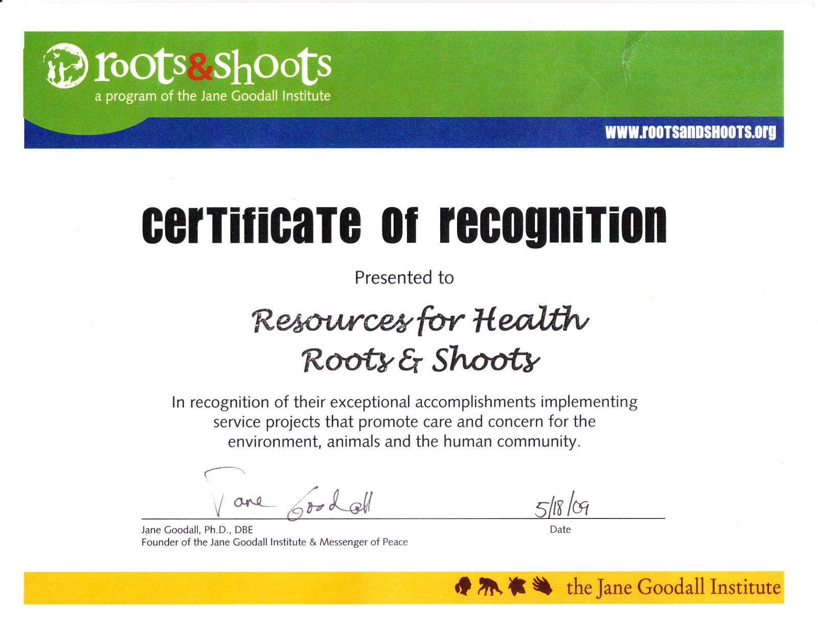 resources for health awards