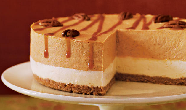 Layered Pumpkin Cheesecake from Woman's Day. I love a cake with ...