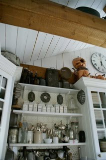 A KITCHEN SHELF