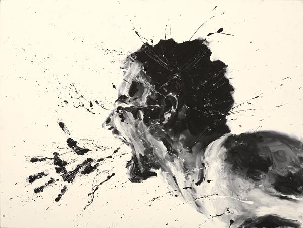 Artist Paints Jesus With His Hands