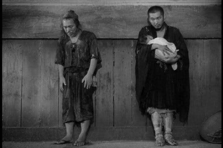 the baby in rashomon Akira kurosawa's rashomon (1950)  the samurai's body but redeems himself  by taking home a baby found abandoned in the gatehouse.