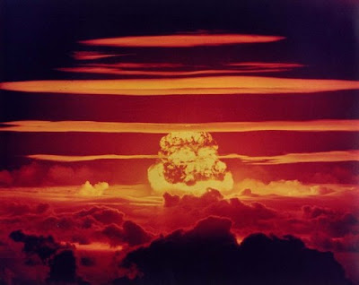 This is a photo of the U.S. nuclear test
