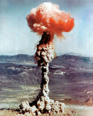 The Charlie test explosion resulted from a 14 kiloton device dropped from a B-50 bomber