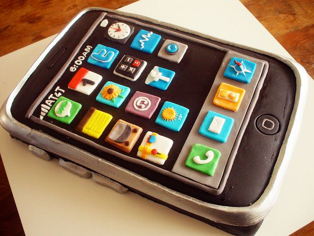 Торт без мастики айфон