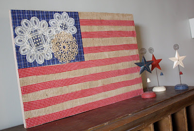 doily american flag craft