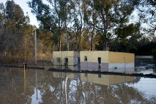 La Corta inundada