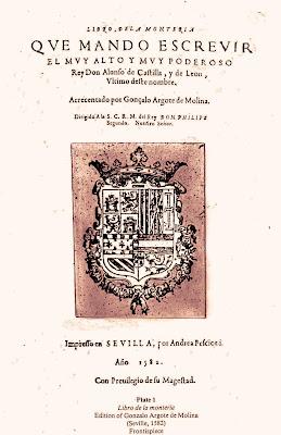 Libro de la Montería atribuido a  Alfonso XI
