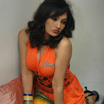 Ramya Sri in Orange Dress Spicy  Photo Set