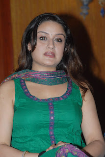 Sonia Agarwal in Green Churidar Photos