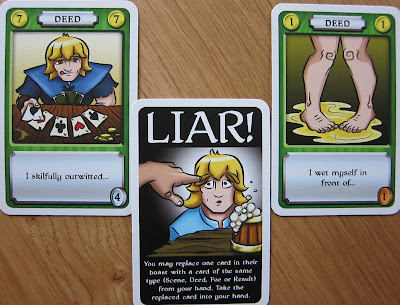 An example of the Liar card being used to substitute a card