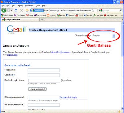 Halaman Pendaftaran Gmail - Image by MeNDHo.com