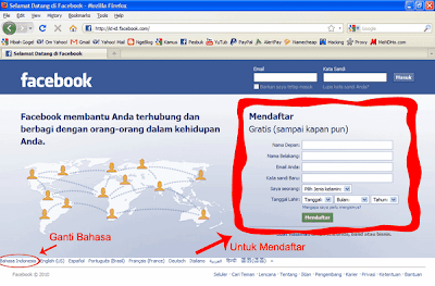 Halaman Utama Facebook - Image by MeNDHo.com