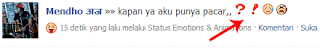 Contoh emotions & animations di status Facebook