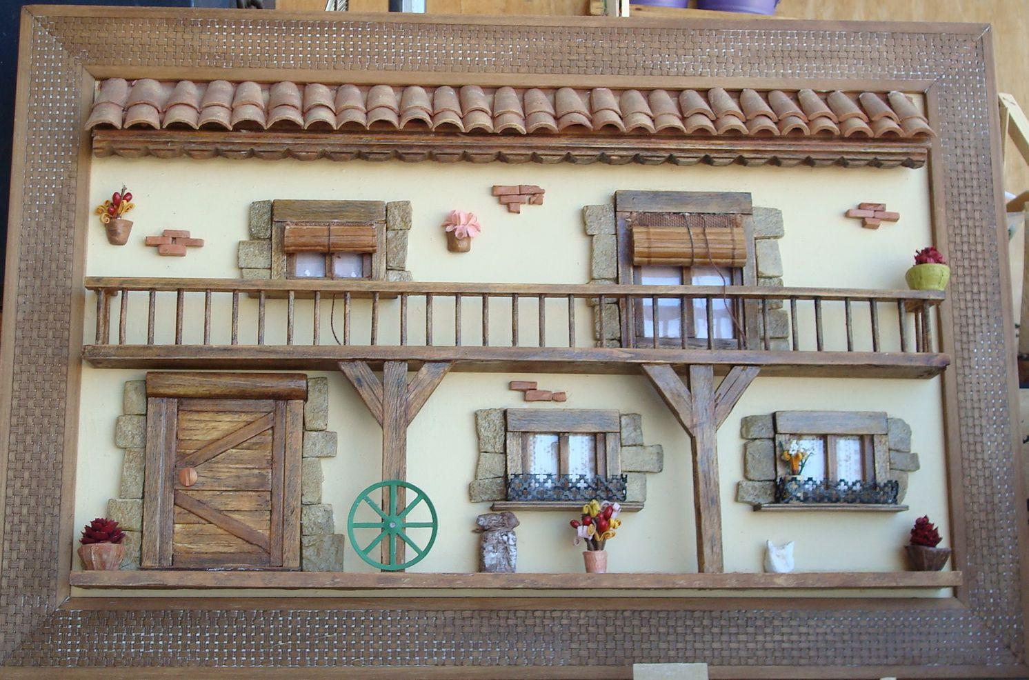 Manualidades luigi decid cambiar temporalmente las tejas for Manualidades para casa rustica