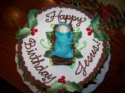 Plumeria Cake Studio: Birthday Cake for Baby Jesus