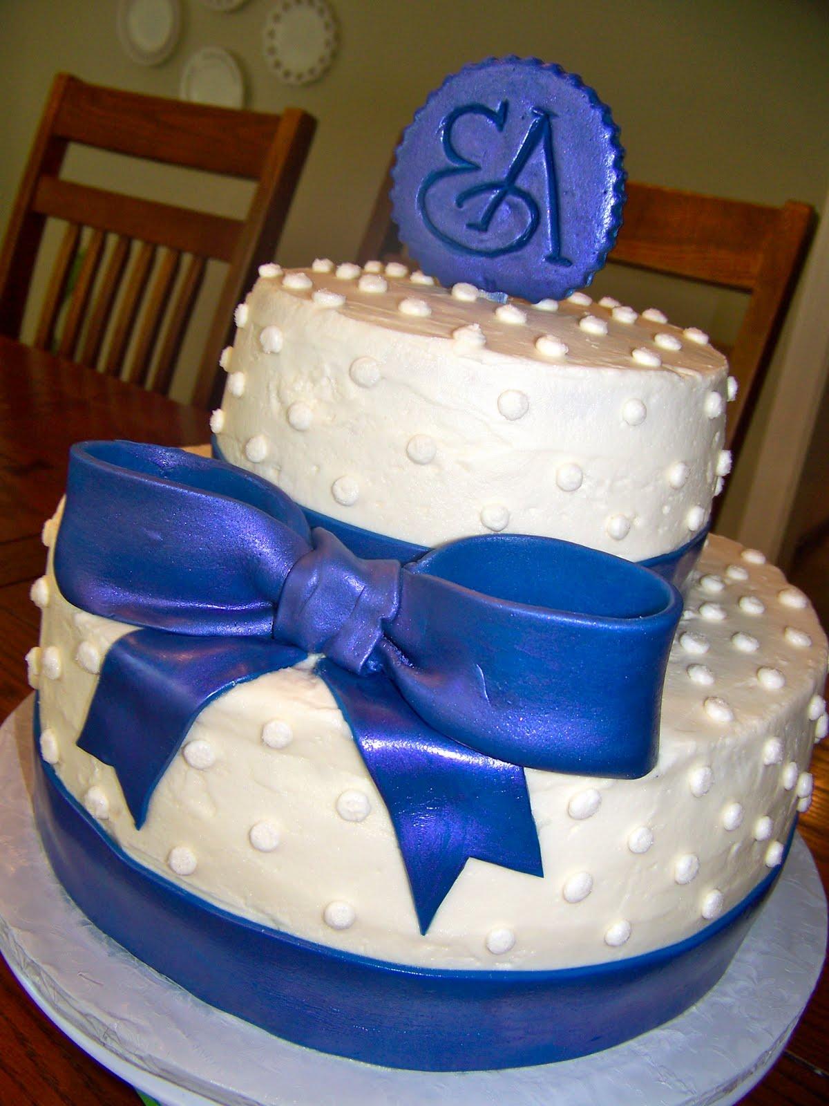 Plumeria Cake Studio Bridal Shower Monogram Cake