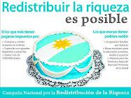 Campaña redistribucion de la Riqueza