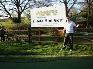 Mini Golf at the Metro Golf Centre in Barnet, London