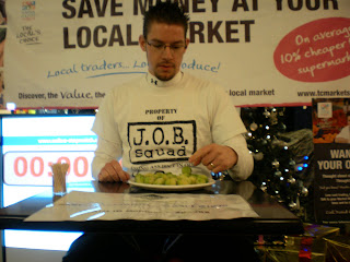 Guinness World Record Attempt - Most Brussels Sprouts Eaten in a Minute!