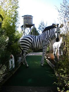 On Safari Adventure Golf at Paradise Wildlife Park in Broxbourne