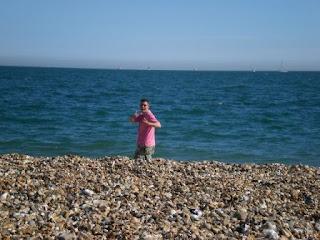 Richard Gottfried on Southsea Beach