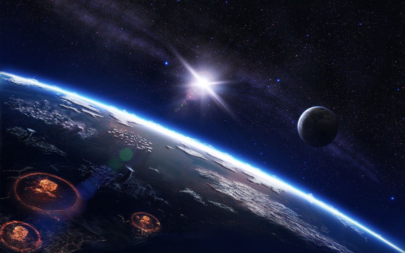 1366 X 768 Real Space Wallpaper