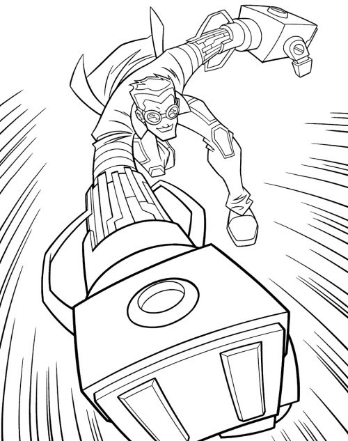 Generator Rex coloring pages to print