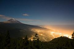 foto da contaminacion luminica en Tenerife