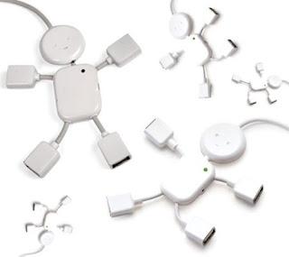 minihub USB con forma de monigote