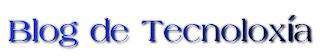 texto blog de tecnoloxia en letras azuis