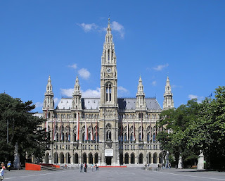 The Rathaus in Vienna.