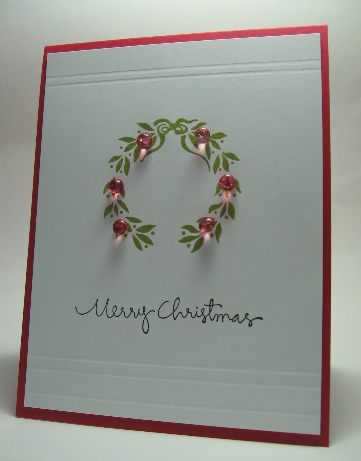 stamping up north with laurie clean and simple christmas card
