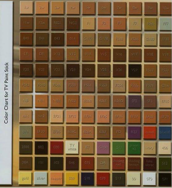 Kryolan Fanatics Color Code For Kryolan Dermacos Dermacolor