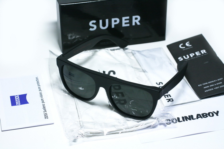 Super Sunglasses Flat Top Matte Black New Super Sunglasses Flat Top