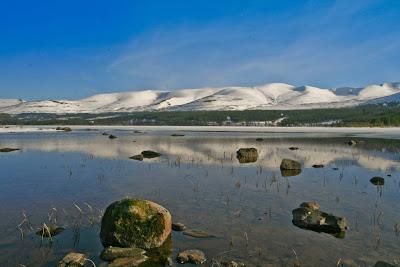 Cairngorm Mountain Ski across Loch Morlich
