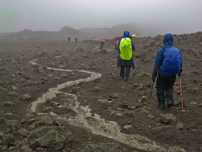 Descending Kilimanjaro in the Rain