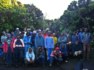 Kilimanjaro porters and guides