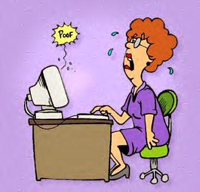 La abuela y el ordenador Computadorallorando