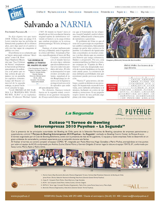 LA SEGUNDA - TERMAS PUYEHUE Y CLUB BOLICHEROS