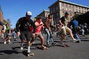 This is the 10th annual Broadway Bomb longboard race and weekend celebration . (bomb )