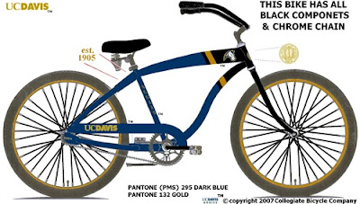 Image of Collegiate Bicycle Company's UC Davis branded bicycle