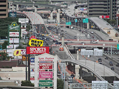 Image of strip-mall sprawl in San Antonio