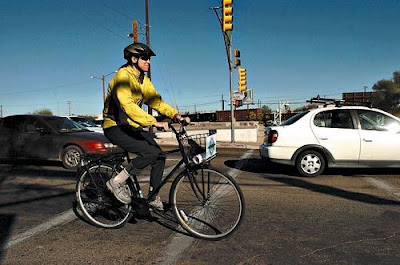 Image of bicyclist in Tucson